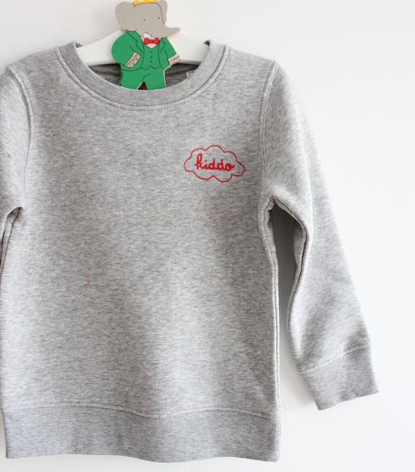 sweat enfant gris -...