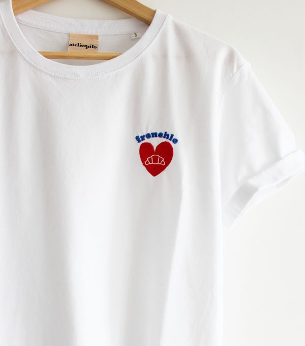 T-shirt brodé femme - frenchie