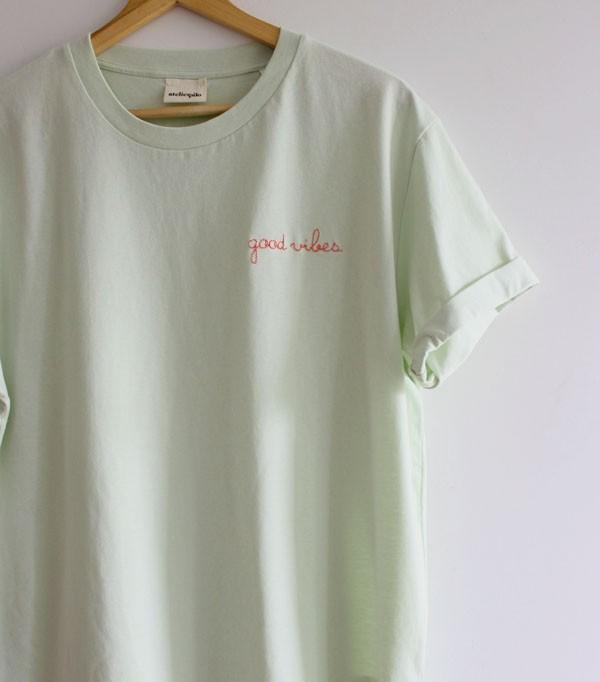 T-shirt_vert menthe...