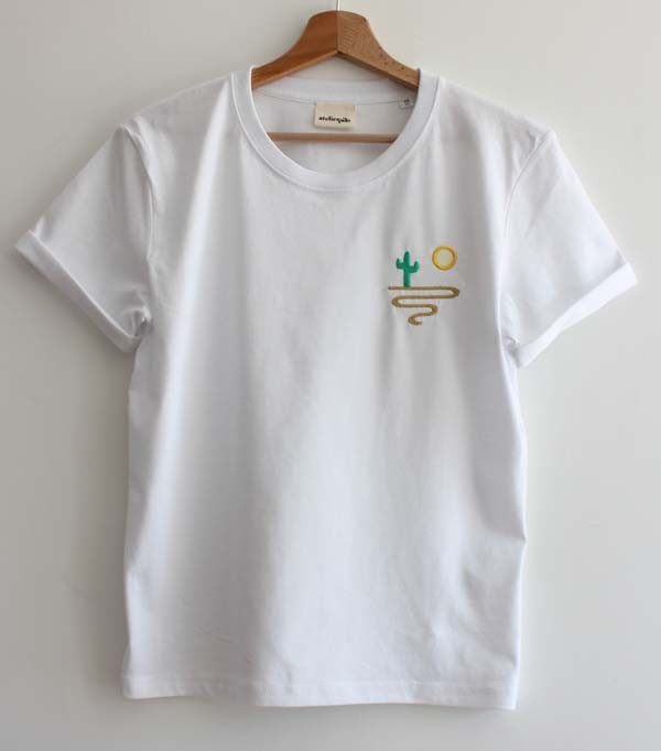 T-shirt brodé femme - desert