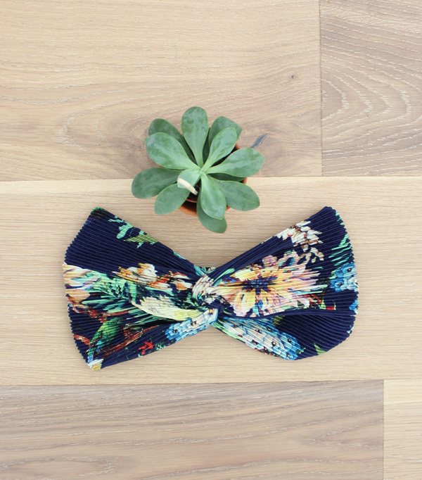 Headband plissé - fleuri...