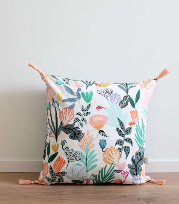 Le Jungle blanc- coussin...