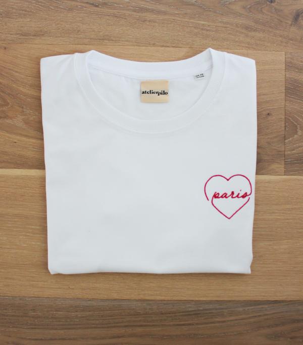 T-shirt brodé femme - Paris...