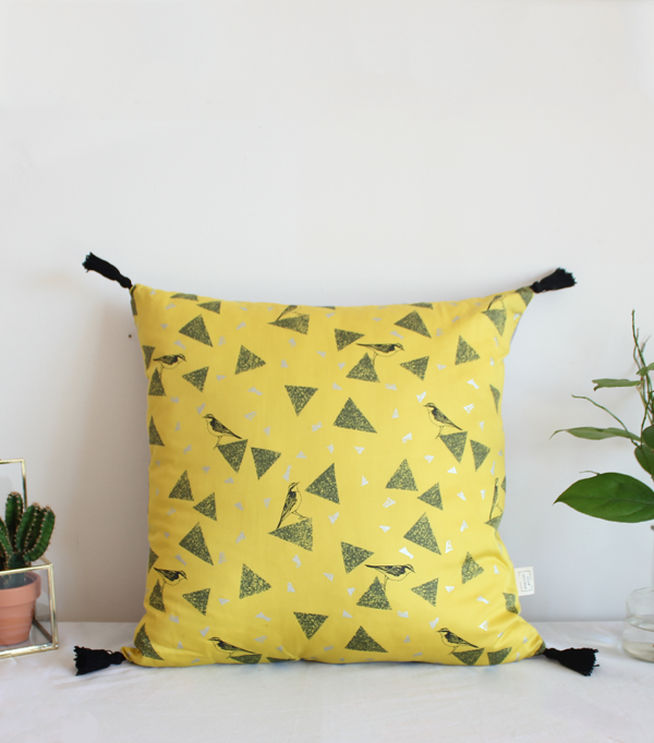Le Yellow Bird - coussin...