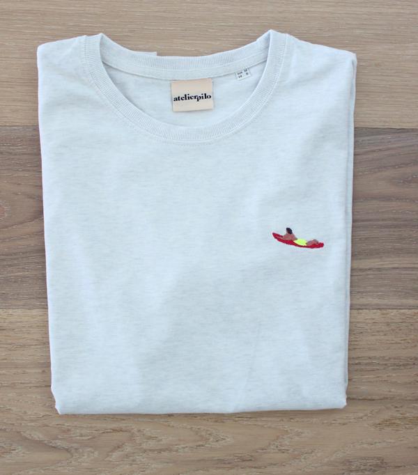 T-shirt brodé Homme - Surfeur