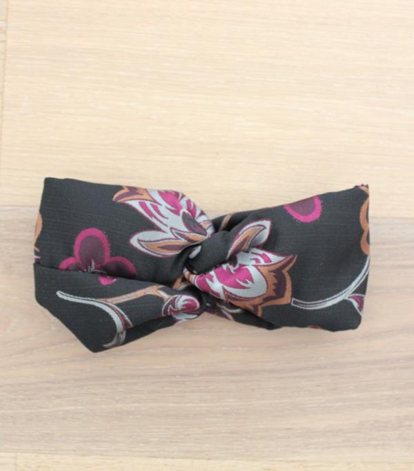 Headband - Noir et fushia