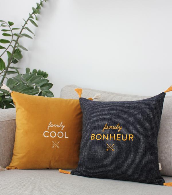coussin family bonheur -...