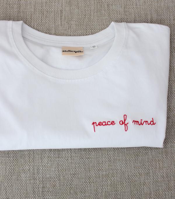 T-shirt brodé femme - Peace...