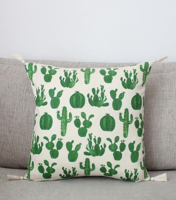 Le Cactus - coussin en lin...