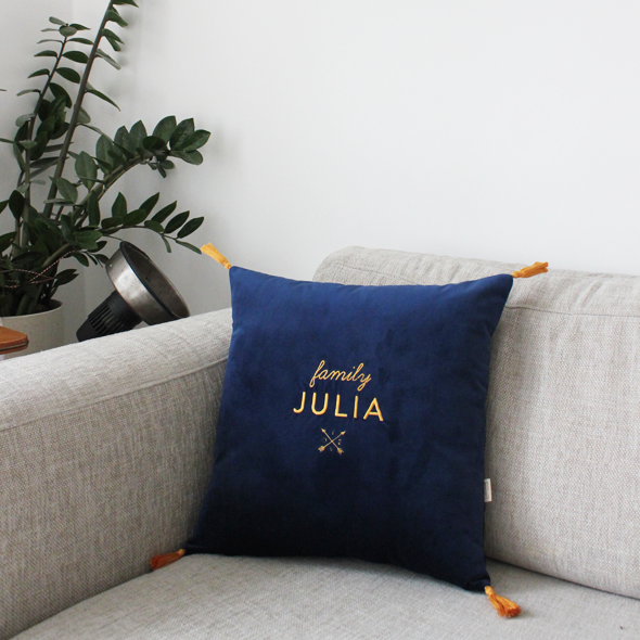 coussin brode julia
