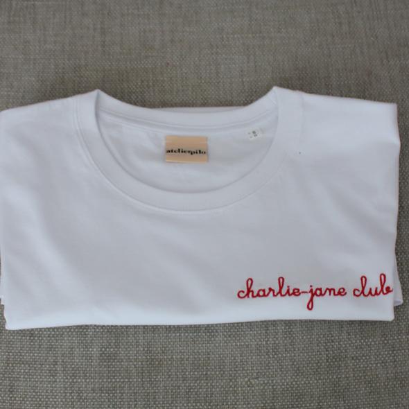 tee shirt brode personalise CHARLIE JANE CLUB
