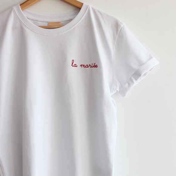 tee shirt la mariee